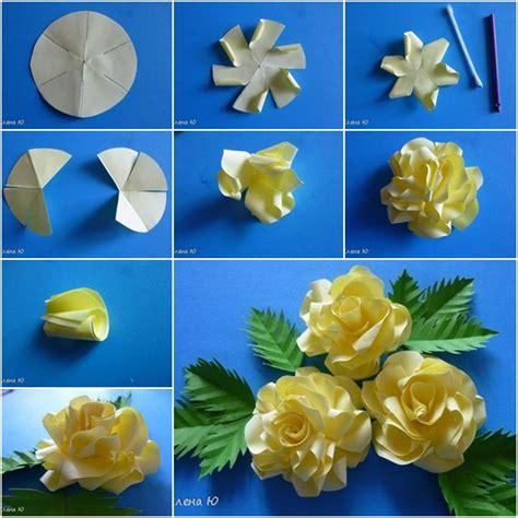 Craft Paper Flowers Roses - diy simple paper