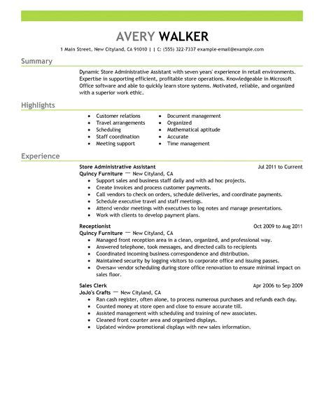 administrative assistant resume example office administrator sample