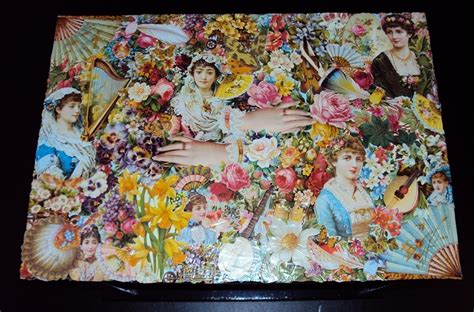 Decoupage Photographs - use your spare wallpaper strips to decoupage fashion wallpaper