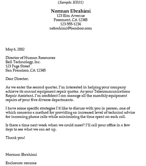 write a cover letter to human resources covering letter