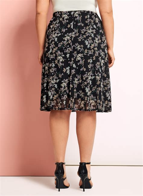 Floral A Line Midi Skirt floral print a line midi skirt free shipping