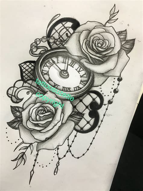 tattoo clock design clock design shoes clock