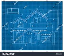 Blueprint For House modern house blueprint stock vector 99718403 shutterstock