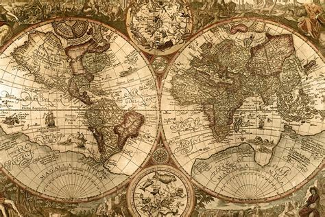 Classic World Map Wallpaper Wall - map backgrounds wallpaper cave