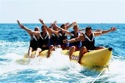 14 watersports in goa that you must add to your bucketlist - Banana Tube Boat Ride In Goa