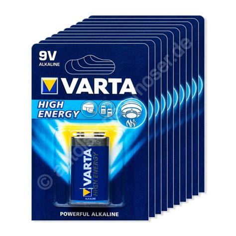 Motorrad Batterie 9v by 10x 9v E Block 6lp3146 Batterie Alkaline Varta High