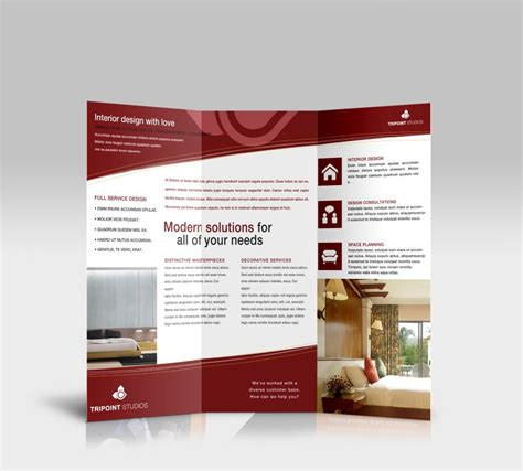 custom brochure templates tri fold brochure template for design company marketing