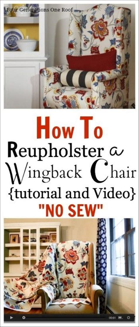 Reupholster Armchair Tutorial by How To Reupholster A Chair Tutorial Projects To Try