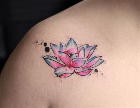 watercolor tattoo georgia 40 wonderful watercolor tattoos for lotus flower