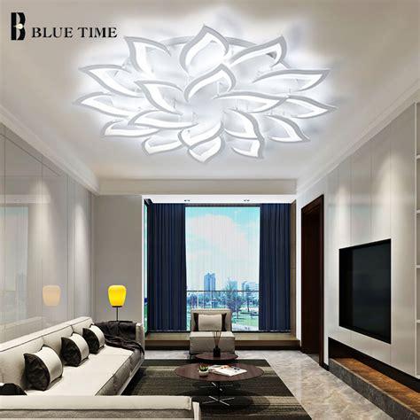 large white modern led ceiling lights  living room