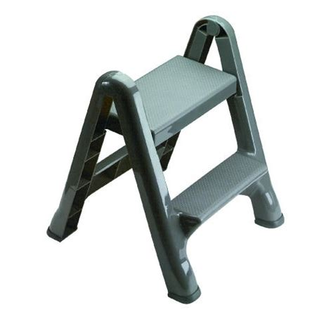 Foldable 2 Step Stool by Foldable 2 Step Stool 300 Lb Max Gray Lionsdeal