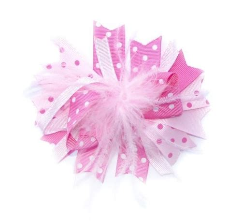 pink feather ribbon hair clip bow crochet 64 best hair bows 2 images on hair bows hair