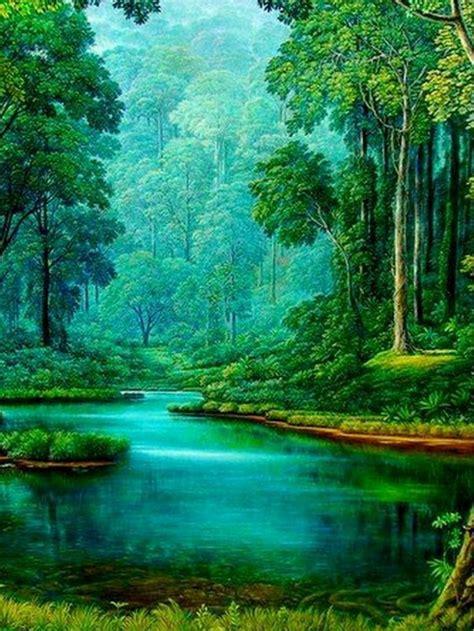 imagenes de paisajes naturales zen pintura hiperrealismo paisaje https