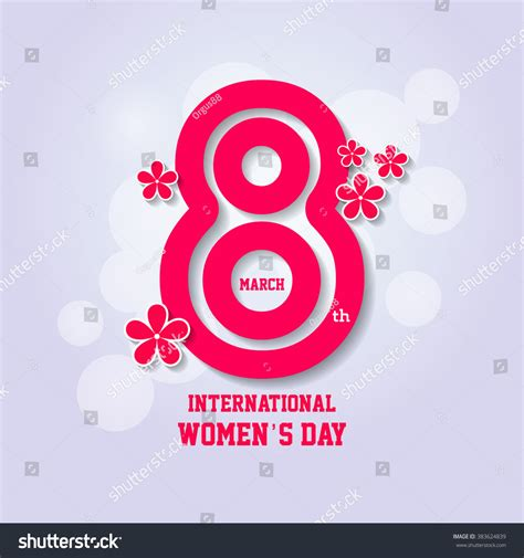 S Day Date International Womans Day Design Happy Womens Stock Vector