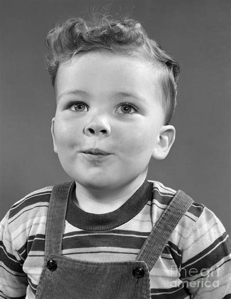 drawings of 1950 boy s hairstyles boy wearing stripe shirt c 1950s photograph by h