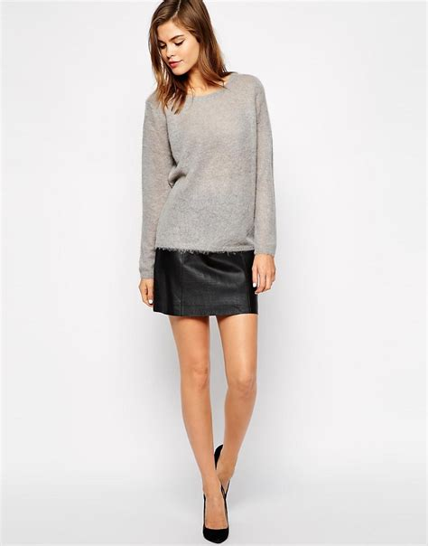 image 1 of warehouse a line leather pencil skirt