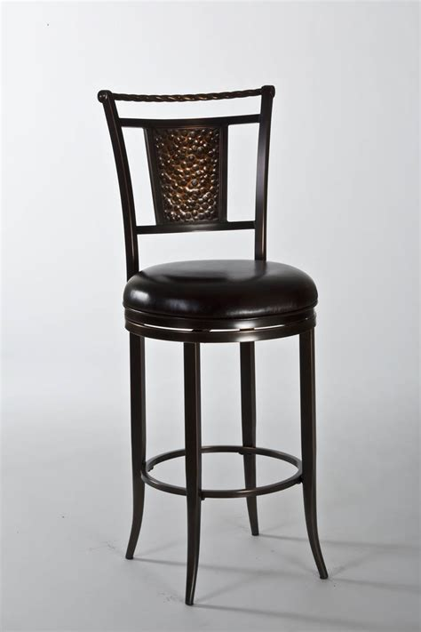 Swivel Counter Stools Parkside Swivel Counter Stool Copper With Brown Vinyl
