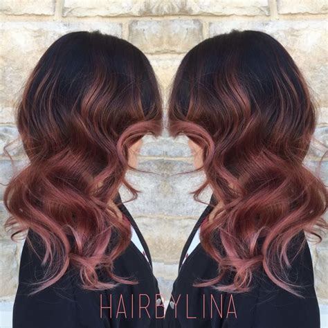 brunette rose gold hair 1000 images about hair on pinterest rose gold balayage