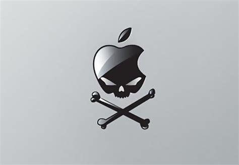 Sticker Macbook Tengkorak 2 evil apple skull macbook sticker gadgetsin