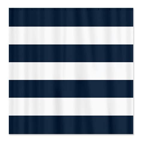 navy blue and white striped shower curtain large striped custom shower curtain navy blue and white
