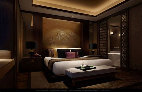 luxury bedrooms interior design printed chinese silk headboard luxury bedding interior