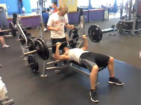 16 year old 220 lb max bench press 2 months after 205
