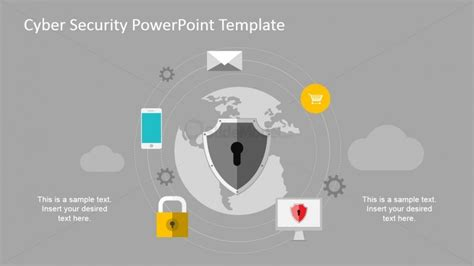 Computer Systems Digital Assets Powerpoint Diagram Cyber Security Program Template