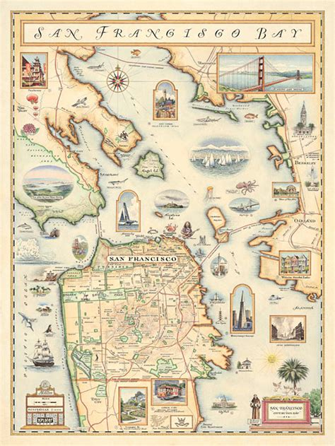 san francisco map history chris robitaille s new map of san francisco done in an