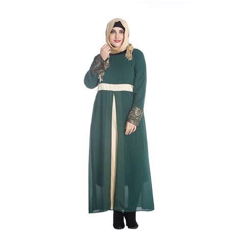 Dress Gamis Maxi Dress Muslim Leaf Dress 1 compare prices on abaya embroidery shopping buy low price abaya embroidery at factory