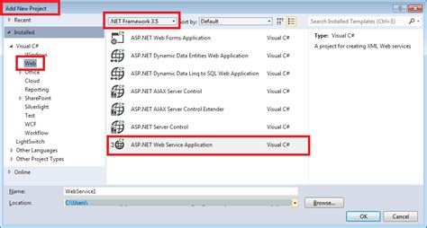 Tutorial Visual Studio 2012 Web Service | how to create web service server client in visual