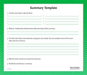 chapter summary template 7 summary report template expense report
