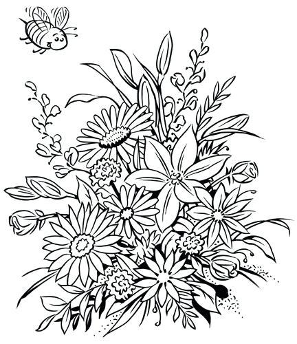 flower coloring books coloring book flowers