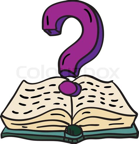 doodle question doodle book with question stock vector