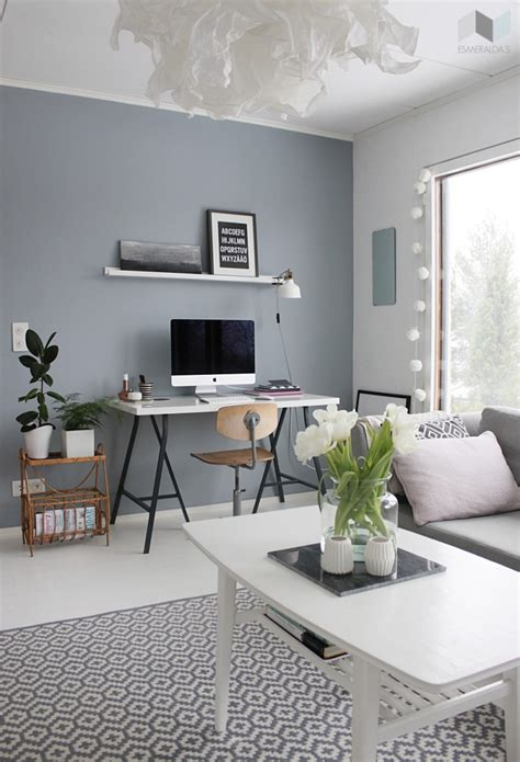 grey blue wall paint home