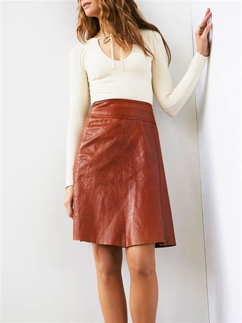 vintage leather skirt at free clothing boutique