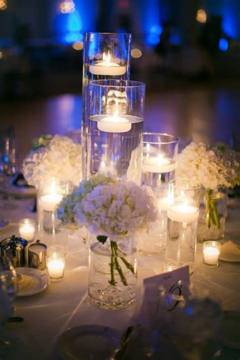 white wedding ideas with elegance romantic candles