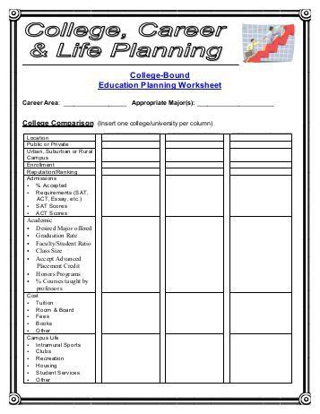 college planning worksheet