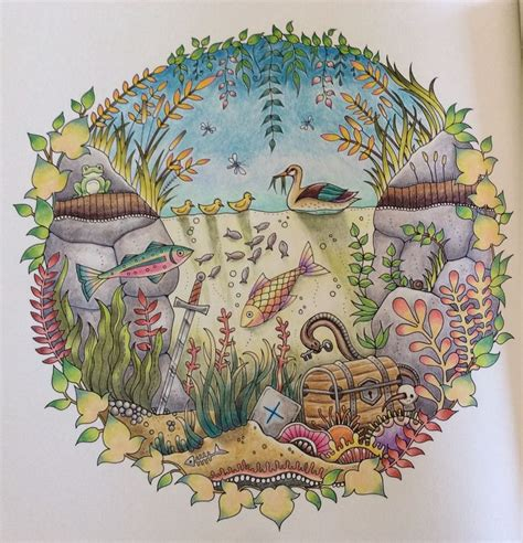 enchanted forest colored enchanted forest coloring book by johanna basford the