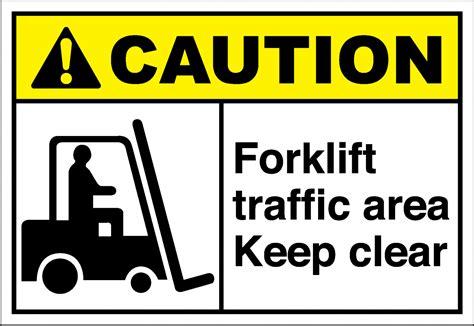 Sticker Safety Sign Forklift Traffic Area Forklift Traffic Area Keep Clear Forklift Sign Safety