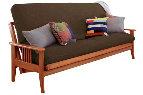wood futon frame convertible futon sofa marin futon cherry set the