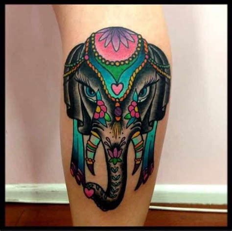 tattoo elephant color elephant tattoos for men ideas for guys and image gallery