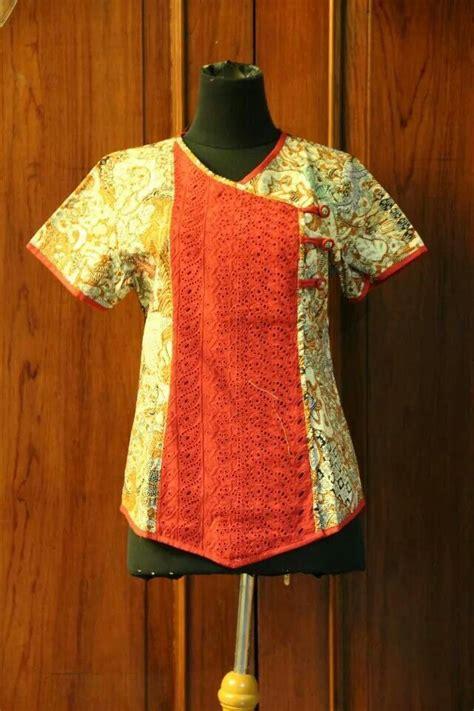 Bangau Blouse woow ikat and batik style