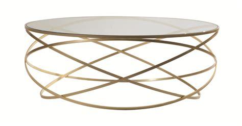 table basse ronde en acier et verre evol by roche bobois