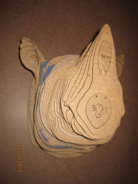 cardboard animal heads templates images