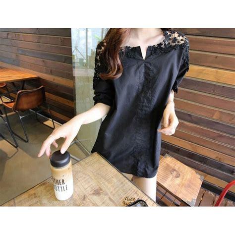 Blouse Fashion Wanita 44 blouse wanita korean style size xl black jakartanotebook