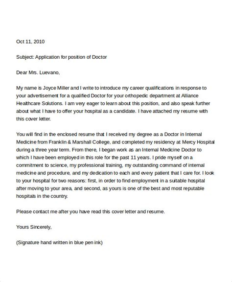 application letter for a doc 7 application letters for doctor free word pdf