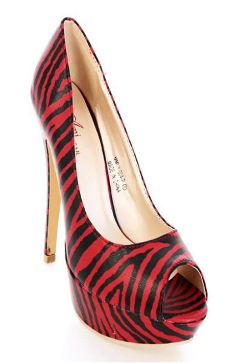 zebra high heel shoes zebra print statement platform high heel shoes on storenvy