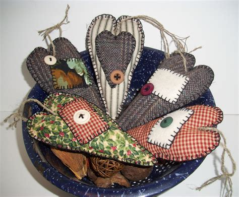 reserved for nancy handmade primitive ornaments scented