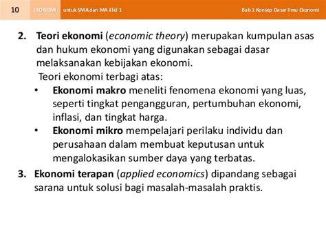 Applied Economics Aplikasi Ilmu Ekonomi 2 bab 1 konsep dasar ilmu ekonomi