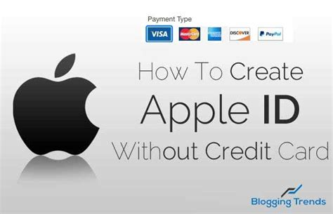 can i make an apple account without a credit card how to create an apple id without credit card